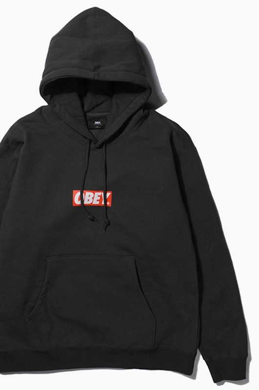 OBEY Bar Logo Hood Black