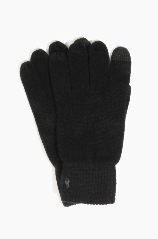POLO Cotton Merino Touch Glove Black