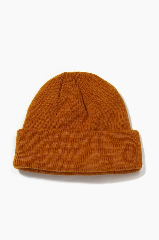 Plain Beanie Standard Brown