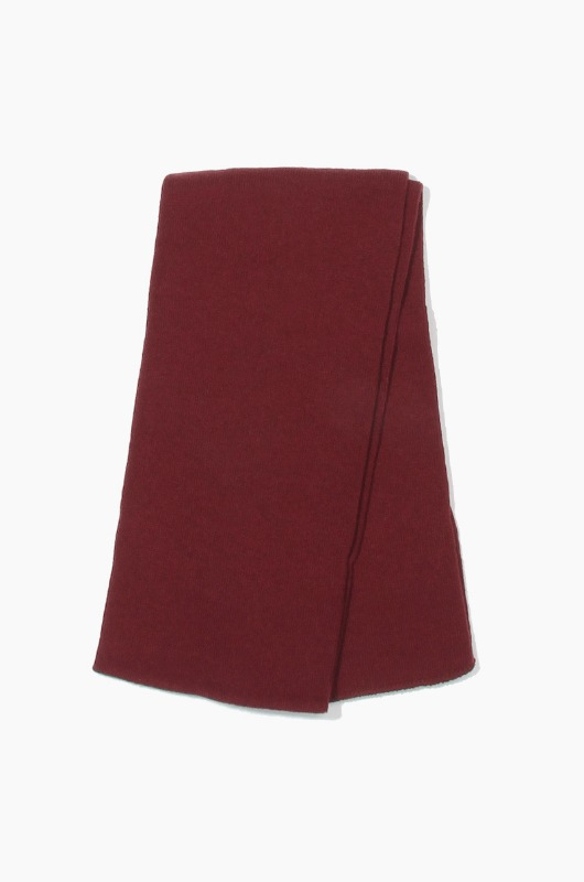Plain Scarf Solid Knit Scarf Maroon