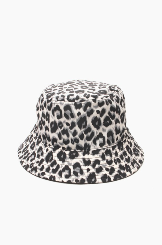 TNP Reversible Leopard Bucket White