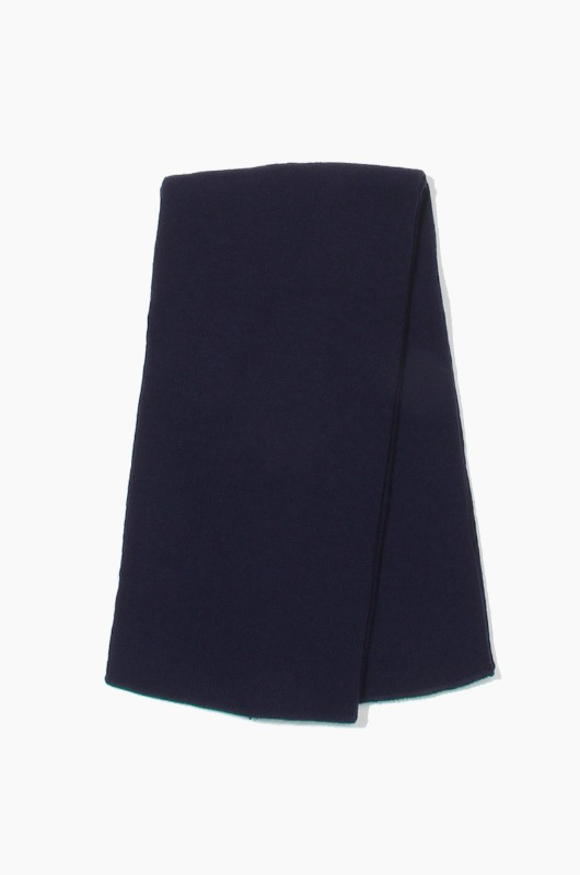 Plain Scarf Solid Knit Scarf Navy