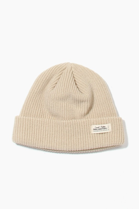 TNP WH Label Watch Cap Beige