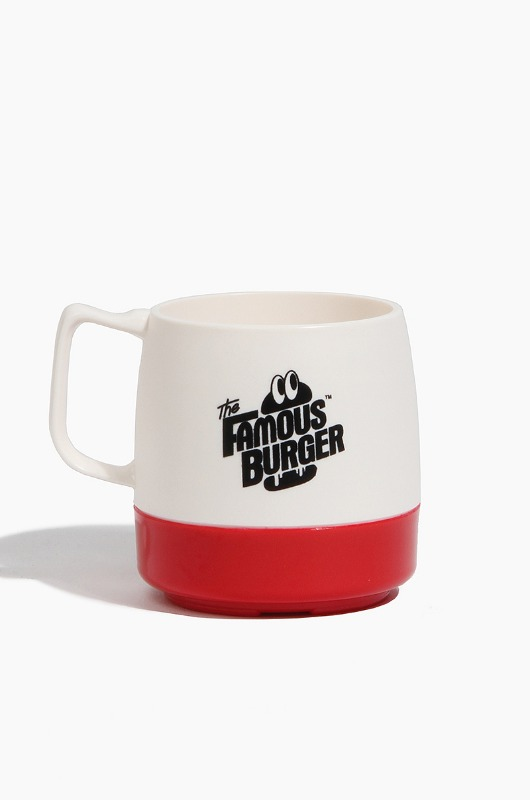THE FAMOUS BURGER  TFB x Dinex Mug White/Red