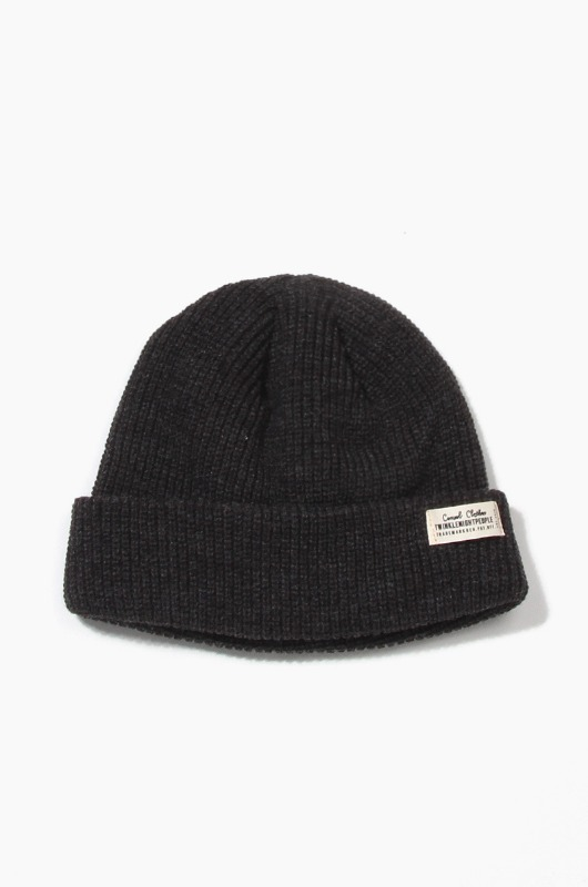 TNP WH Label Watch Cap Charcoal
