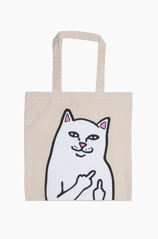 RIPNDIP Lord Nermal Tote Bag Ivory