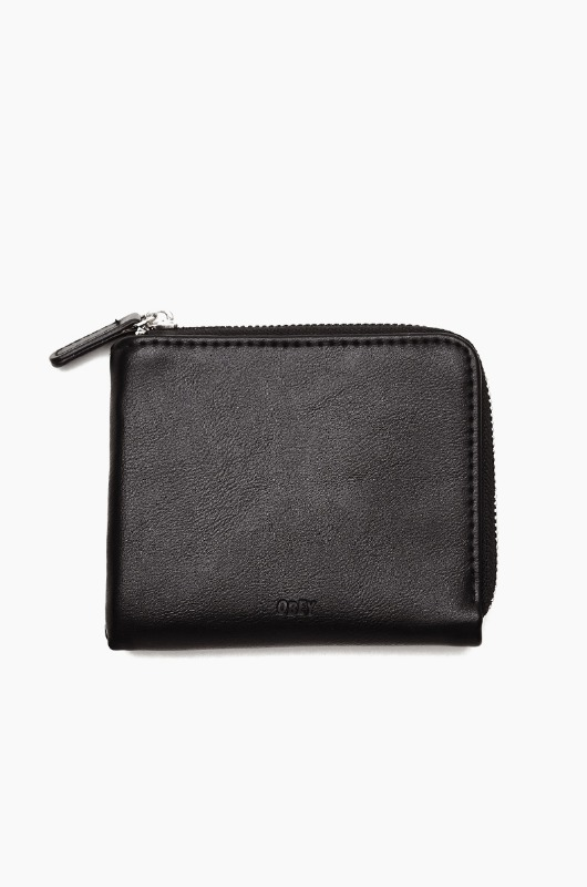 OBEY Gentry Jumble Harf Zip Wallet Black