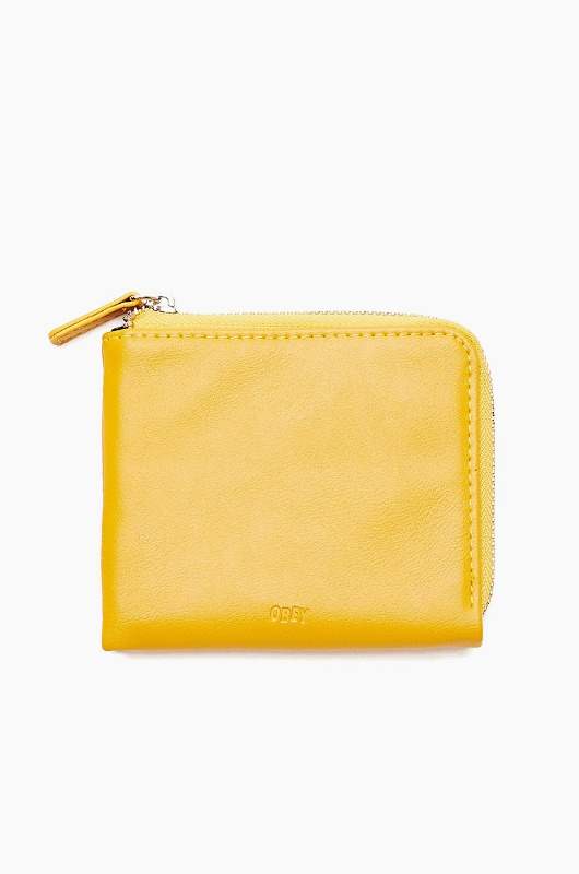 OBEY Gentry Jumble Harf Zip Wallet Energy Yellow