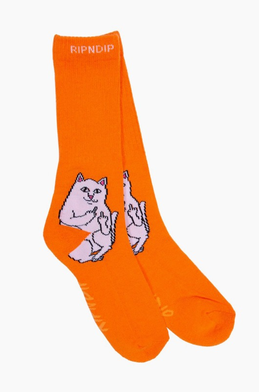 RIPNDIP Lord Nermal Socks Orange