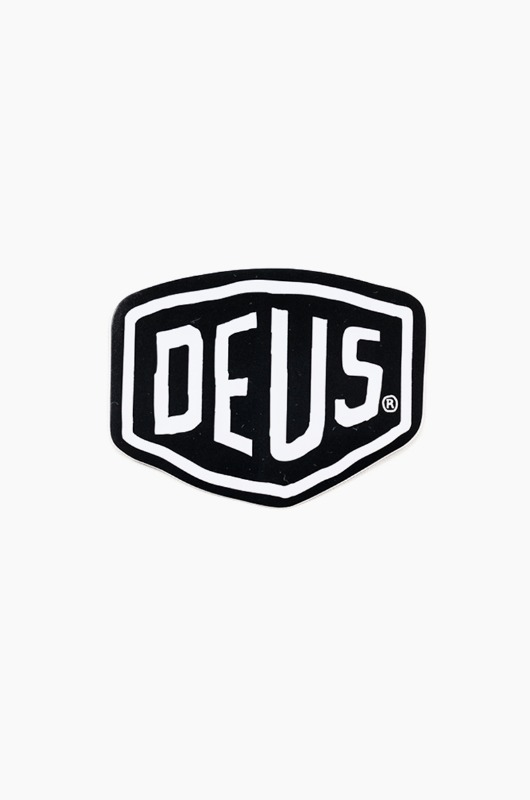 DEUS Vinyl Sticker Shield Black