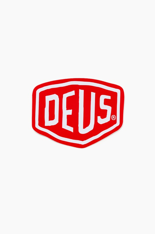 DEUS Vinyl Sticker Shield Red