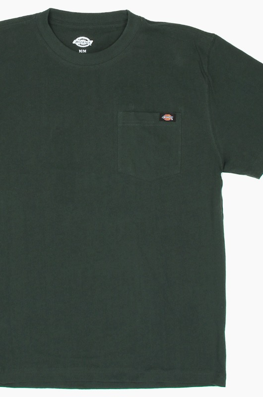 DICKIES WS450 Heavy Crew S/S Green