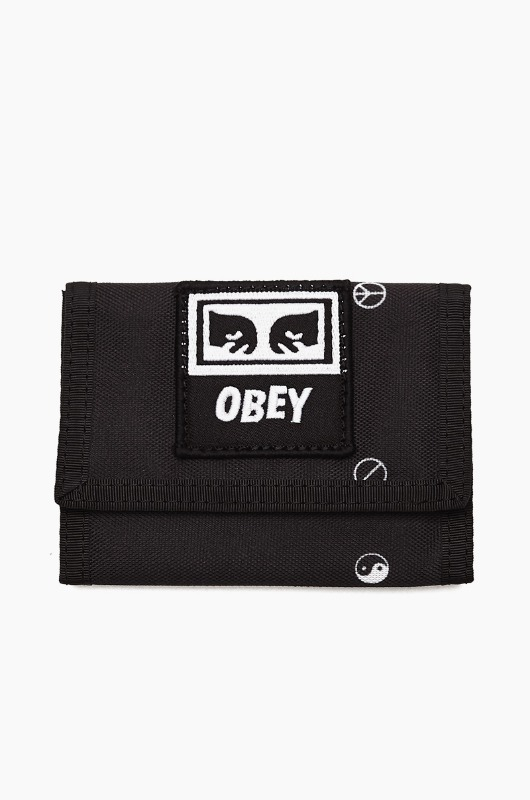 OBEY Drop Out Tri Fold Wallet Symbol Black