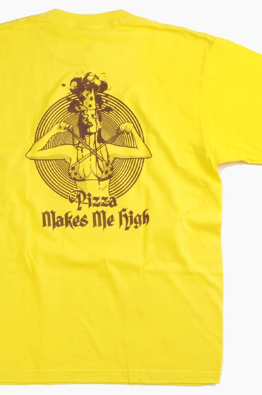 DOIN'MATHANG PIZZA MAKES ME HIGH S/S Yellow