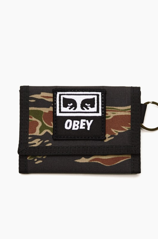 OBEY Drop Out Tri Fold Wallet Tiger Camo