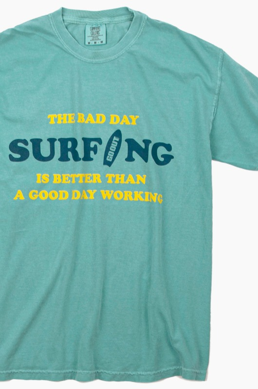 GO OUT Bad Day Surfing S/S Lagoon Blue