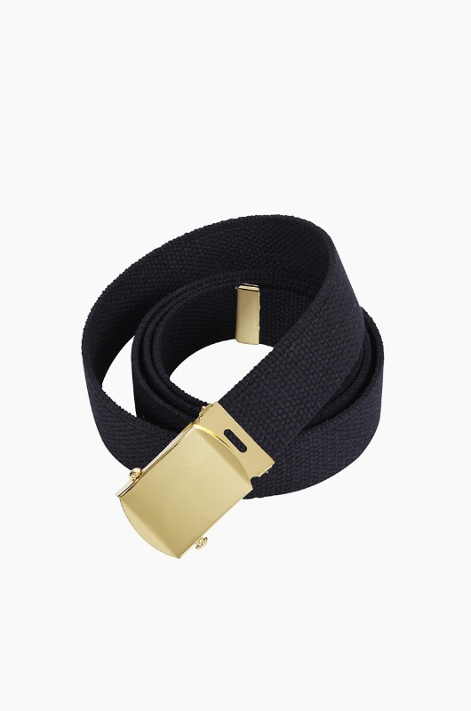 ROTHCO Military Web Belt Black/Gold