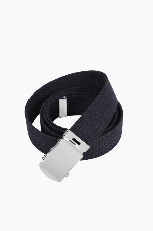 ROTHCO Military Web Belt Black/Silver