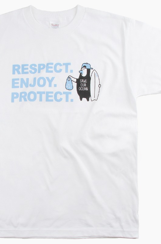 I AM A SURFER Respect S/S White
