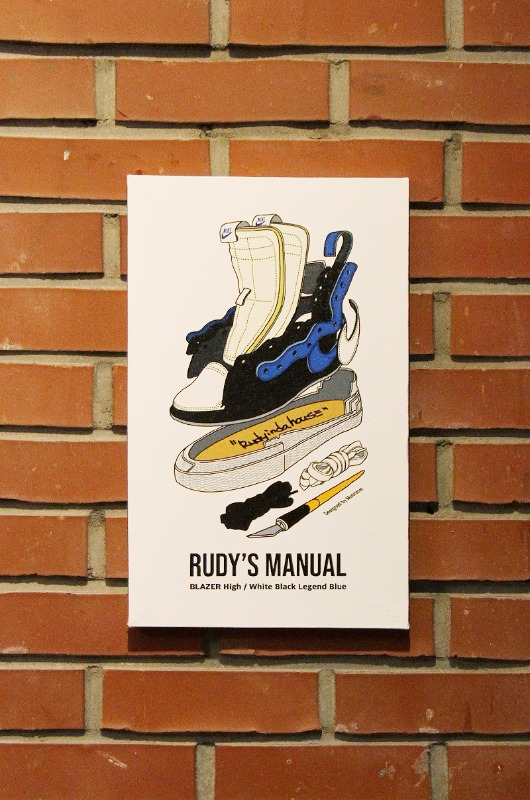 RUDYINDAHOUSE Rudy's Manual Artwork Canvas Blazer 25x40