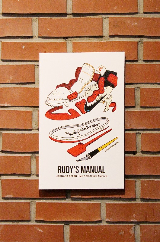 RUDYINDAHOUSE Rudy's Manual Artwork Canvas Jordan 25x40