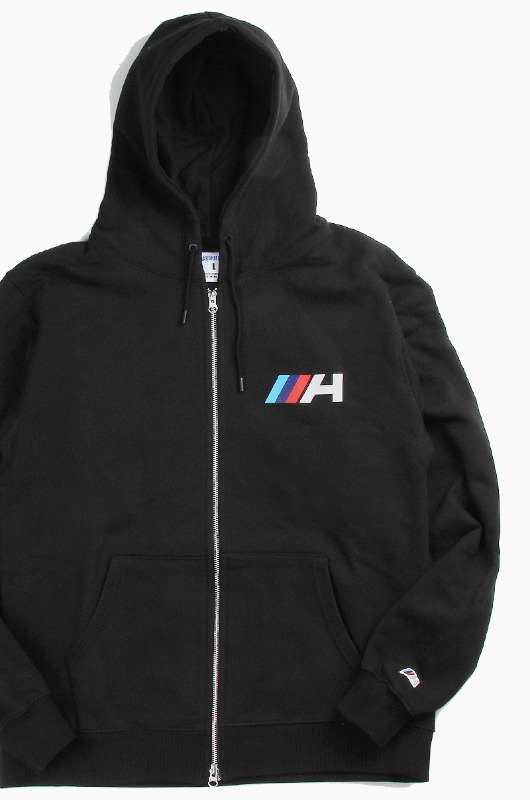 HARDHITTERS Multi Color H Hood Zipup Black
