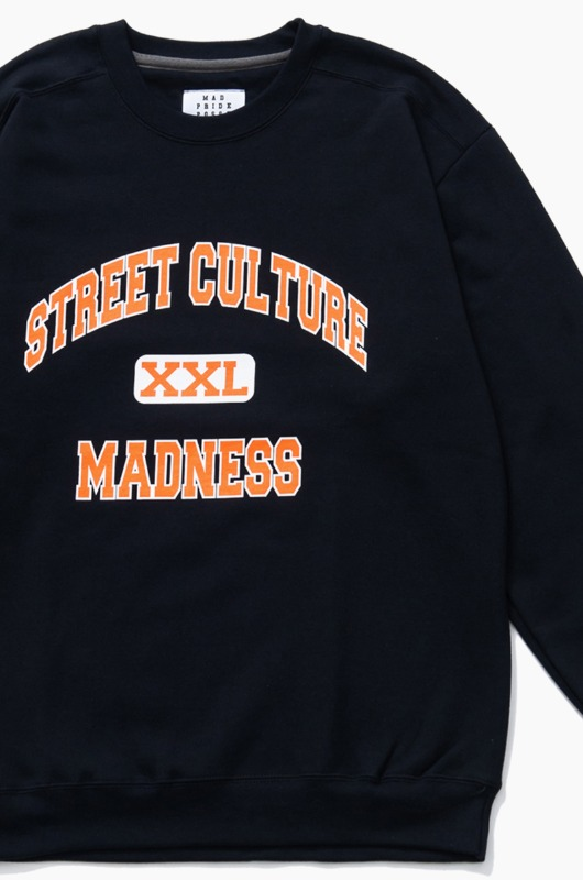 MAD PRIDE POSSE Street Culture Madness Crewneck Black
