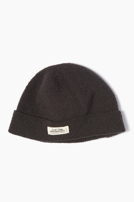 TNP A/C WH Label Watch Cap Charcoal