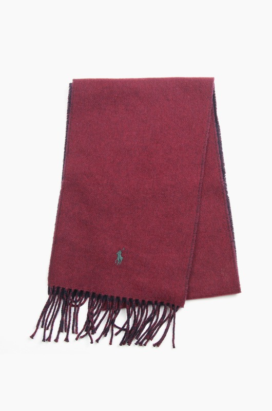 POLO Classic Reversible Scarf Wine/Navy