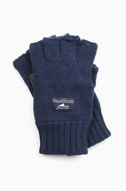 PISCATOR Essential Fingerless Gloves Navy