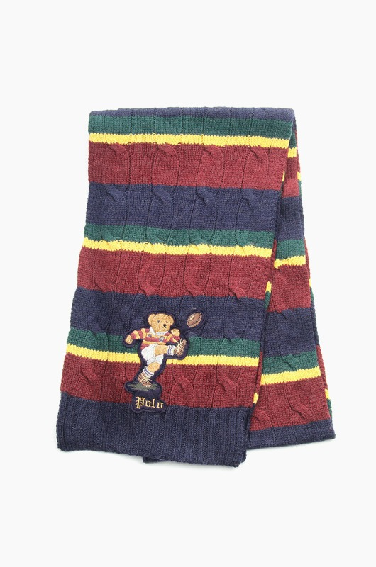 POLO Kicker Bear Scarf Hunter Navy