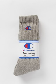 CHAMPION Champion Basic Socks Grey(3pk)
