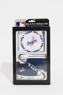 MLB Bib & Pre-Walker Set Dodgers