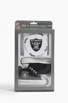 NFL Bib & Pre-Walker Set Raiders