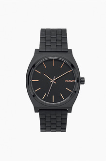 NIXONTime Teller Black / Rose Gold