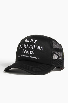 DEUS Venice Address Trucker Cap Black