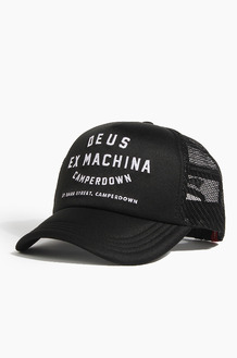 DEUS Camperdown Address Trucker Cap Black