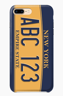 CHILLN Graphic Case Number Plate New York