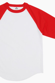 AAA Raglan Tee White/Red