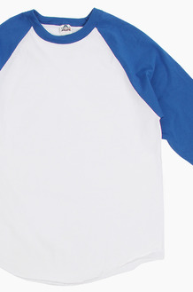 AAA Raglan Tee White/Royal
