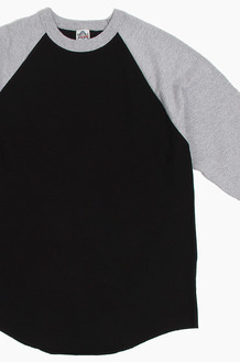 AAA Raglan Tee Black/Heather