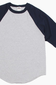 AAA Raglan Tee Heather/Navy