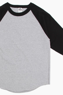 AAA Raglan Tee Heather/Black