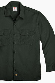 DICKIES 574 Work L/s Shirt Olive Green
