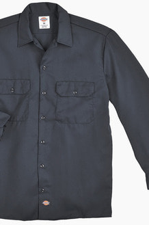 DICKIES 574 Work L/s Shirt Charcoal