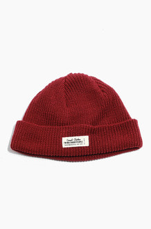 TNP WH Label Watch Cap Burgundy