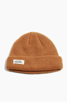 TNP WH Label Watch Cap Mustard