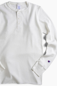CHAMPION (JAPAN) Henley Thermal l/s White