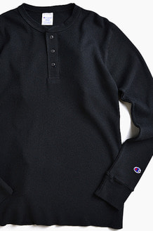 CHAMPION (JAPAN) Henley Thermal l/s Black