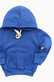 Plain Kids Hood R.blue